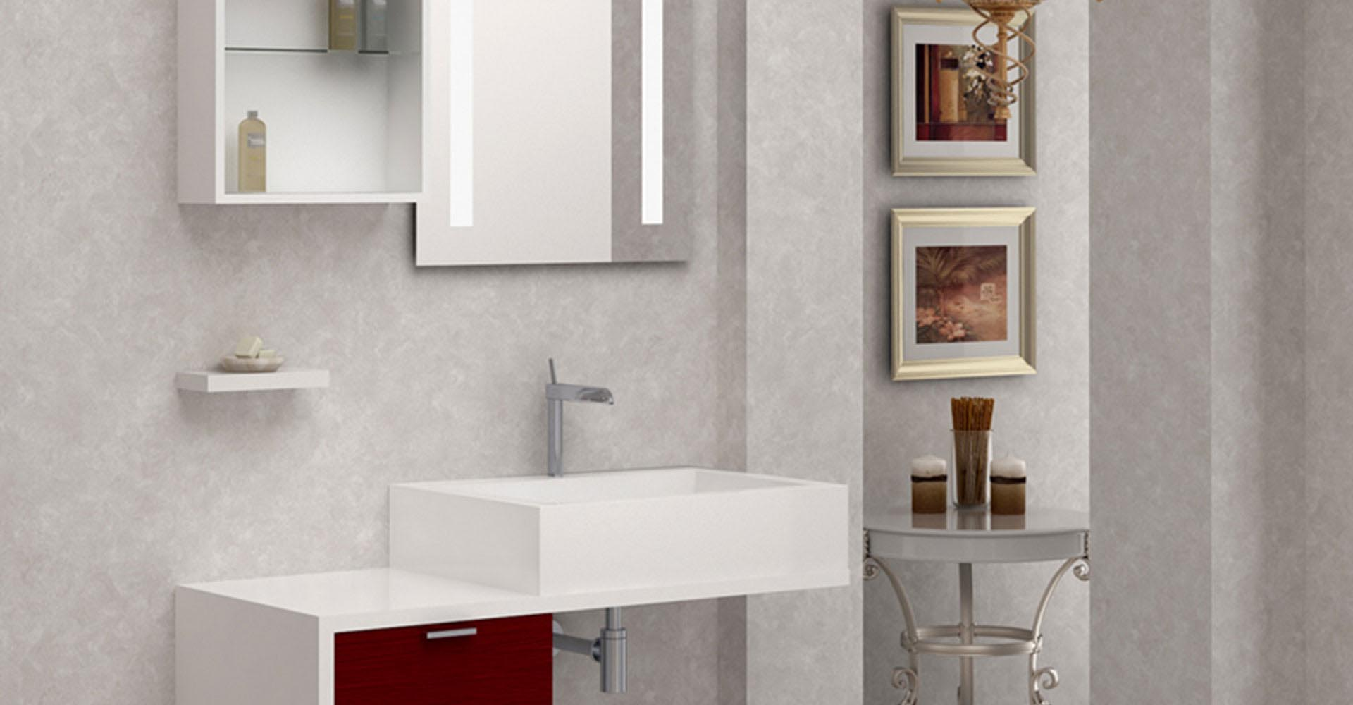 Panels for bathroom: gloss surface Dialux®